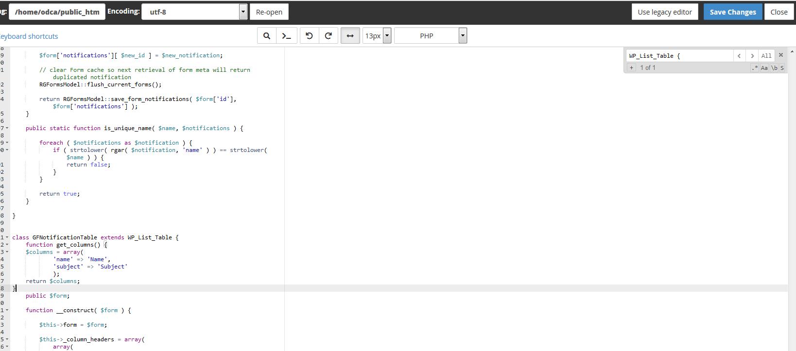 نحوه رفع خطای function WP_List_Table