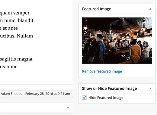 جلوگیری از نمایش تصاویر شاخص در مطالب وردپرس