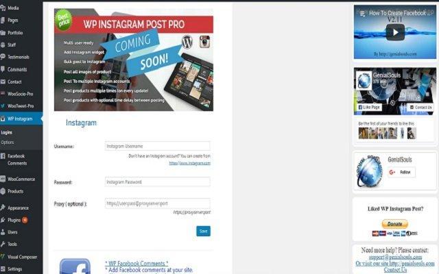 افزونه WP Instagram Widget و نمایش پست های اینستاگرام
