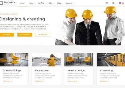 معرفی قالب شرکتی Construction Zone در وردپرس