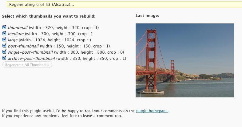 Rebuild WordPress Index Images