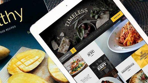 ترکیب رنگ مناسب در طراحی وب سایت رستوران